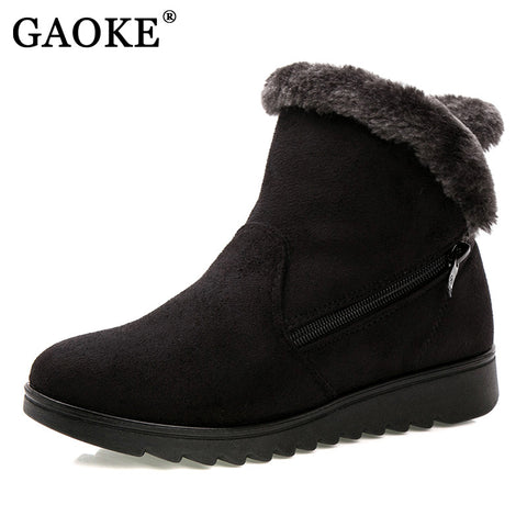 Womens Winter Ankle Fur Casual Fashion Snow Boots