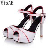 Womens Sexy Open Toe Platform Ankle Strap Pump High Heel Dress Shoes