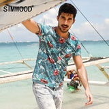 Mens Summer Hawaiian T Shirt 100% Pure Cotton Print Tee Slim Fit Tee