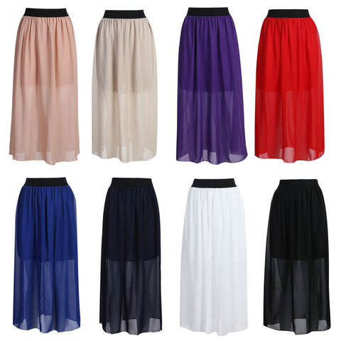 Womens Autumn Brief Solid Color Velvet Fashion High Waist Elegant Long Skirt