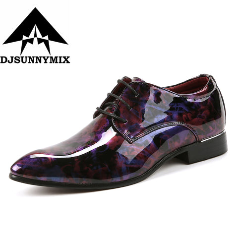 Mens PU Leather Lace-Up Business Wedding Dress Shoes