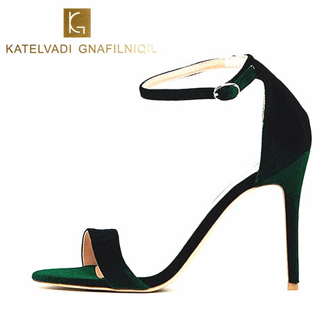 Womens Ankle Strap Sandals Summer Shoes 10CM High Heels