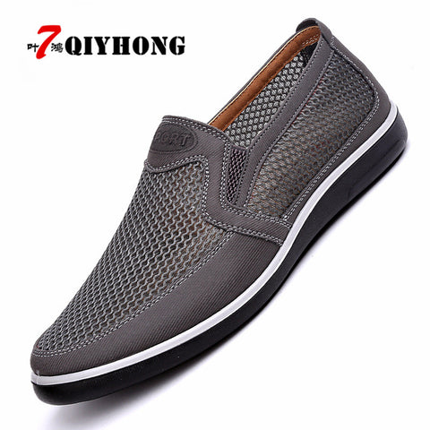 Mens Casual Summer Style Mesh Flats Loafer Casual High-End Shoes