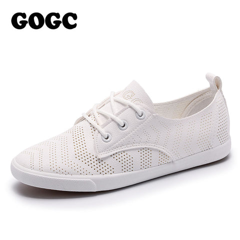 Womens Hole Breathable Flat Sneakers Casual Shoes