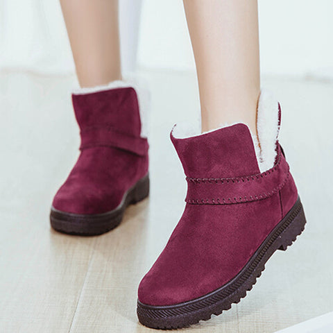 Womens Warm Ankle Winter Plush Casual Boots