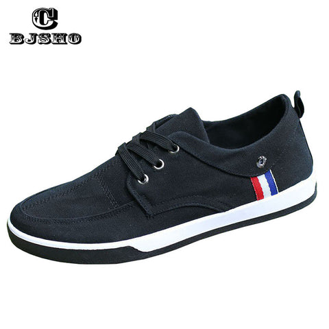 Mens New Fashion Breathable Canvas Shoes Lace-Up Solid Spring Casual Denim Shoes