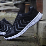 Mens Outdoor Walking Running Lightweight Sneakers
