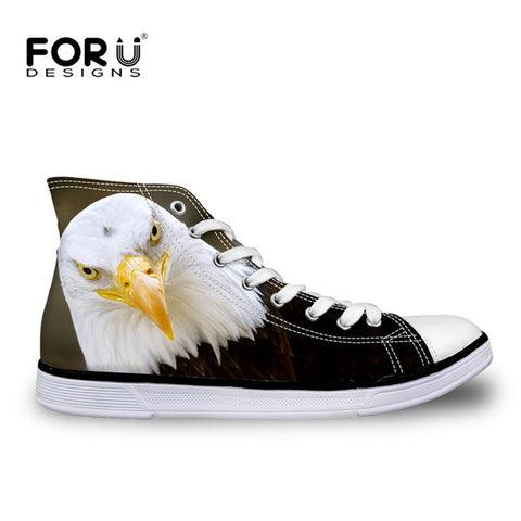 Womens Fashion Casual 3D Animal French Bulldog Frenchie Printed Lace-up  High Top Canvas Shoes 724c498c2dea