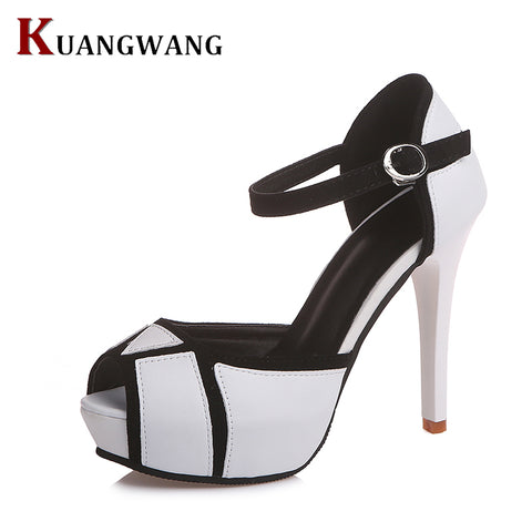 Womens Fashion Peep Toe Sandals Sexy Peep Toe High Heels Party Dress Shoes