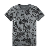 Mens Summer Fashion Printed T-Shirts 100% Pure Cotton Tops Tee Slim Fit
