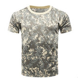 Mens Camouflage T-shirt Breathable Army Tactical Combat Military Dry Camo Camp Tee