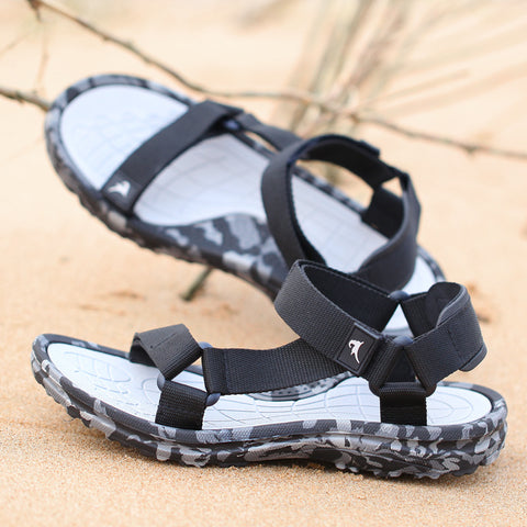 Mens Camouflage Beach Shoes Comfortable Gladiator Sandals