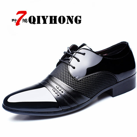 Mens Dress Business Flat Black Brown Breathable Low Top Formal Office Shoes