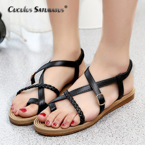 Womens Summer Flat Soft Fashion Comfortable Sandals