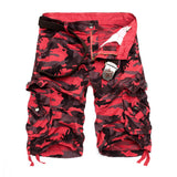 Mens New Camouflage Loose Cargo Cool Summer Military Camo Shorts