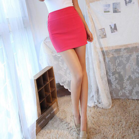 Womens Popular Fashion Sexy A Line Female Mini Seamless Stretch Tight Short Fitted Bodycon Skirt
