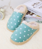 Womens Cool Comfy Polka Dot House Slippers