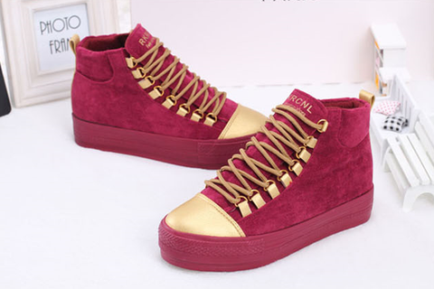 6dc2cdd1639 Womens Casual Gold Toe High Top Sneakers