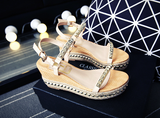 Womens Cool Trendy Studded Wedge Sandals