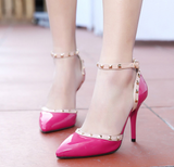 Womens Trendy Edgy Studded Heels