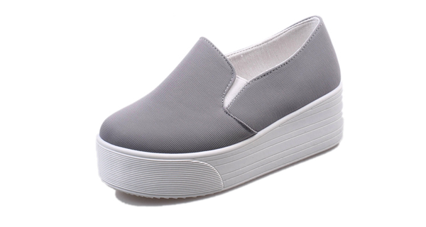 Womens Trendy Thick Sole Slip On Casual Shoes Shoesity