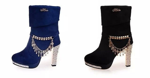Womens Glamorous High Heel Dress Boots