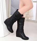Womens Lovely High-Top Wedge Heel Boots