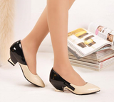 Womens Cute Cross Hatch Bow Heels