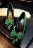 Womens Elegant Bow Dress Heels