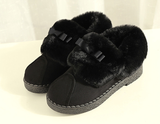 Womens Lovely Fuzzy Low Winter Boots