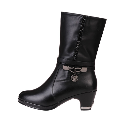d57a5495477 Womens Edgy High-Top Moto Heeled Boots – ShoeSity
