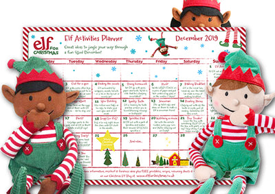 Elf mischief sorted! 24 easy elf ideas on our printable planner