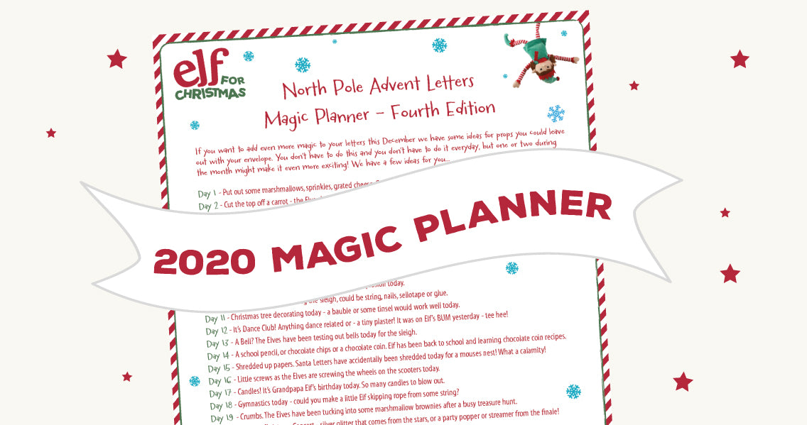 Christmas Elf Advent Letters - 2020 Magic Planner!