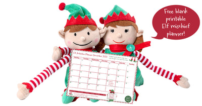 2020 Elf Antics Christmas Planner - free printable