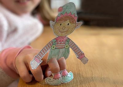 Christmas crafts - download our free Elf finger puppet printable