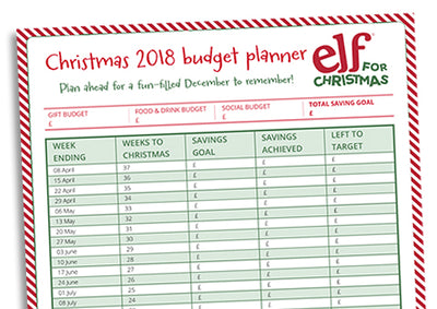 Be a wise old Elf and start saving early with our free printable Christmas 2018 Budget Planner