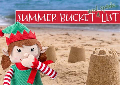 The Elf for Christmas Summer Bucket (and spade) List – free printable for things to do every day of the summer holidays