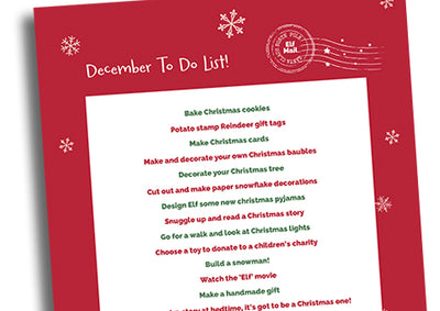 Your December to do list – free printable for advent activity ideas