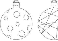 coloring pages christmas baubles clip - photo#30