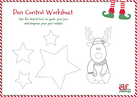 Christmas Elf Pen Control Sheet