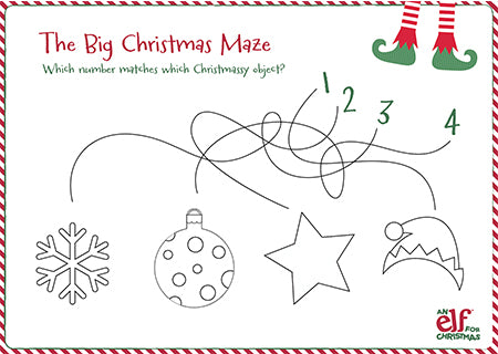 Christmas Elf Maze Activity Sheet