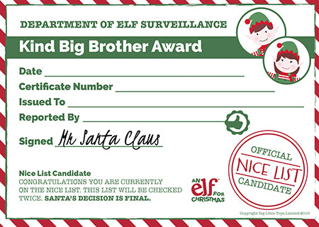 Christmas Certificate Template | Christmas Rewards | Elf ...