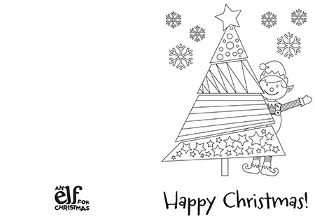 Make Your Own Christmas Cards For Kids Elf For Christmas - Christmas card templates to color