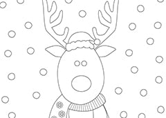 christmas reindeer colouring sheet