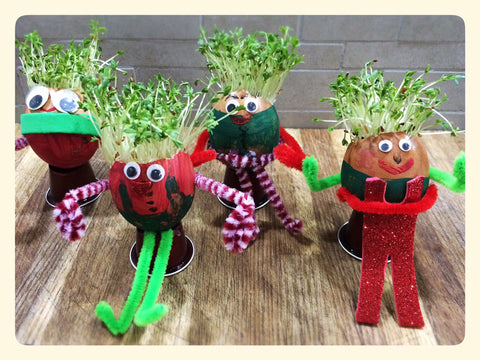 Christmas Elf Cress Egg