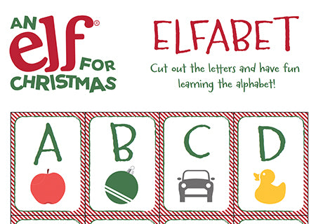 Christmas Elf-Abet Worksheet
