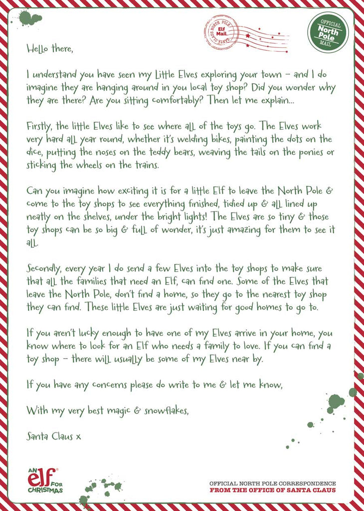 Buying elf for christmas in a toy shop elf for christmas australia letter from santa spiritdancerdesigns Choice Image