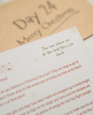 SAMPLES - Unboxed Advent Letter Set, Unique Christmas Advent Calendar Idea - First Edition