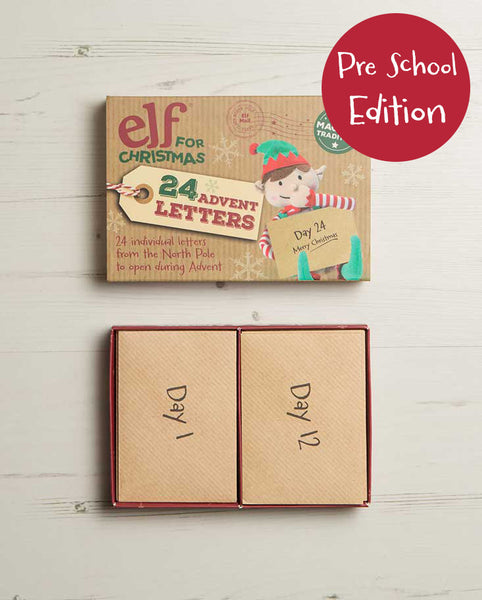 2018 Edition - Pre School Set of Advent Letter Set, Unique Christmas Advent Calendar Idea.