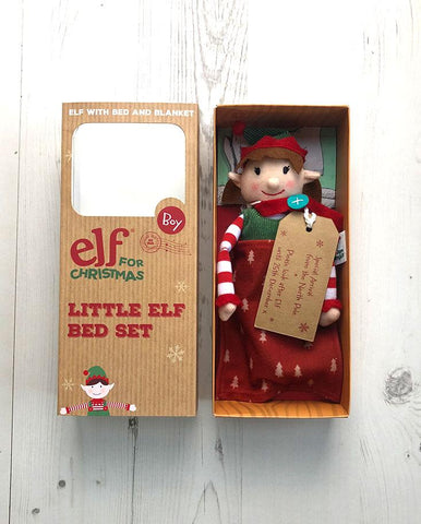 Little Girl Elf and Bed Set